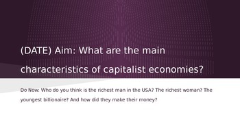Capitalism Review PowerPoint
