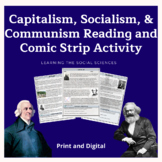 Capitalism, Socialism, Communism 3 Page Reading & Comic St