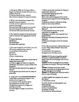 Capitalism, Socialism, Communism Review Sheet