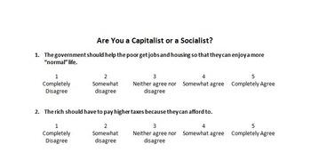 Capitalist or Socialist Test