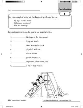 Capitalization 01: Beginning of a Sentence