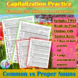 Capitalization: 1-Page Spring-Themed Practice