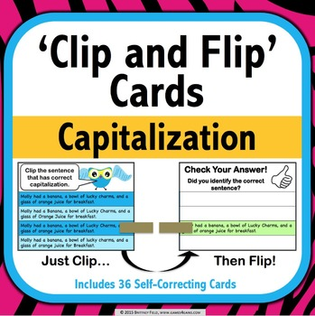 Capitalization Task Cards (Clip and Flip)