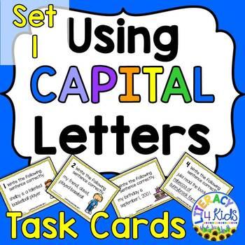 Capitalization Task Cards Set #1 for Grades 2-5