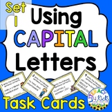 Capitalization Task Cards Set #1