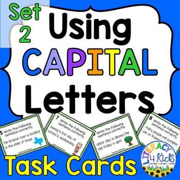 Capitalization Task Cards Set 2 for Grades 2-5
