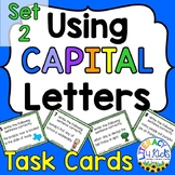 Capitalization Task Cards Set 2