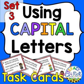 Capitalization Task Cards Set 3 for Grades 2-5
