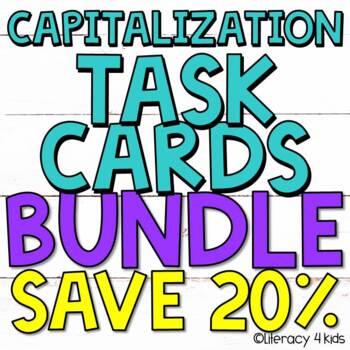 Capitalization Task Cards BUNDLE - 72 Task Cards