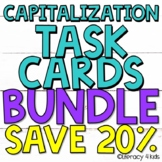 Capitalization Task Cards BUNDLE - 72 Task Cards