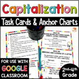 Capitalization Practice Activities - Task Cards and Anchor Charts