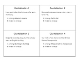Capitalization Task Cards (STAAR)