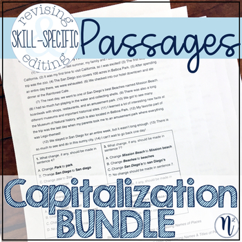 Capitalization BUNDLE: Skill-Specific Revising and Editing Passages