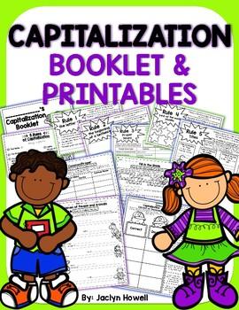 Capitalization Booklet & Printables