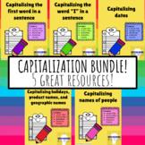 Capitalization Bundle - K, 1st, and 2nd grade