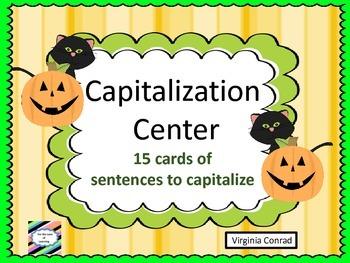Capitalization Center--Halloween Theme