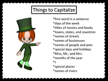 Capitalization Center---St. Patrick's Day Theme