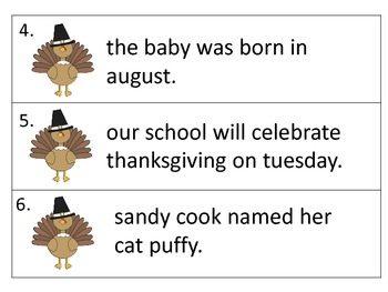 Capitalization Center--Thanksgiving Graphics