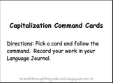 Capitalization Command Cards