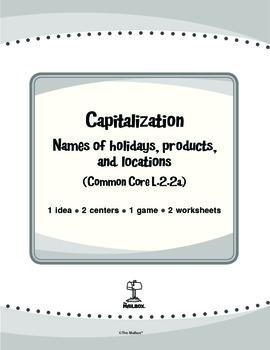 Capitalization (Common Core L.2.2a)