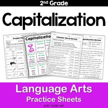 Capitalization Common Core NO PREP Practice Sheets