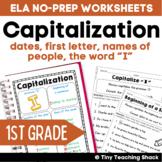 Capitalization Common Core Practice Sheets L.1.2.a