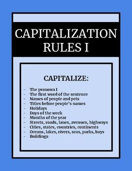 Capitalization I - Common Core Standards & Oklahoma Academic Standards