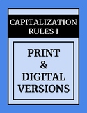 Capitalization I Print & Digital Distance Learning 2nd-4th