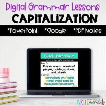 Capitalization Digital Grammar Lesson- Distance Learning