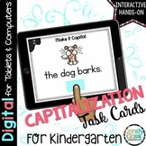 Kindergarten Capitalization Digital Task Cards - Paperless for Google Use