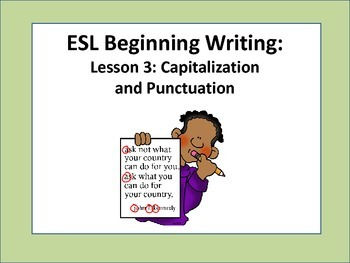ESL Beginner Writing Lesson: Capitalization