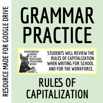 Capitalization Exercises Packet