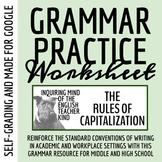High School Grammar Packet: Resolving Capitalization Errors