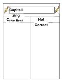 Capitalization- First letter of the sentence practice