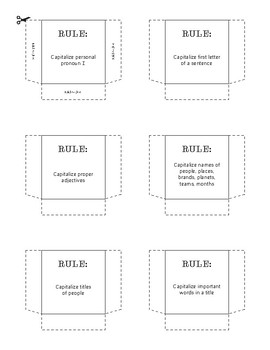 Capitalization Foldable