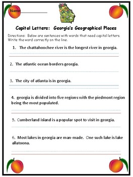 Capitalization Georgia
