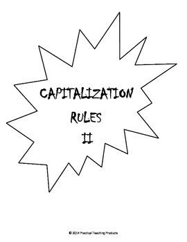 Capitalization I & II - Common Core & Oklahoma Academic Standards Grades 2,3,4,5