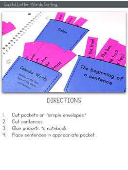 Capitalization Interactive Notebook