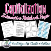 Capitalization Interactive Notebook Pages - Canadian Content
