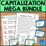 Capitalization Practice Mega Bundle (Capitalization Task Cards and Worksheets)