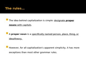 Capitalization Notes PowerPoint