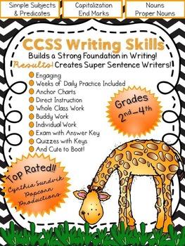 Sentences.  Lessons, Activities, Assessments. Creates SUPER Sentence Writers!