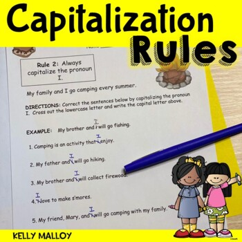 Capitalization Packet - When To Use A Capital Letter - NO PREP