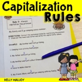 Capitalization Worksheets When To Use A Capital Letter Capitalization Packet