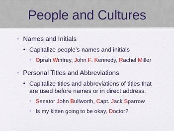 Capitalization PowerPoint