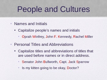 Capitalization PowerPoint