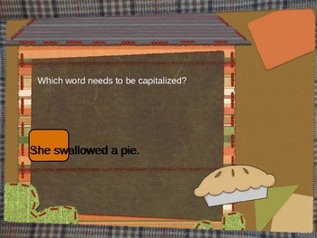 Capitalization PowerPoint: There Was an Old Lady Who Swallowed a Pie
