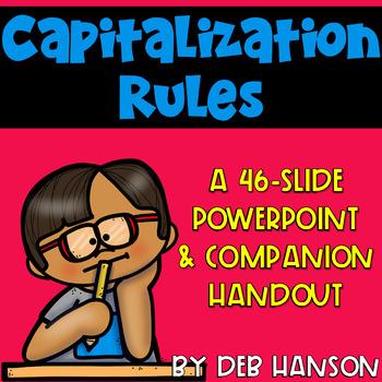 Capitalization PowerPoint (includes a companion handout)