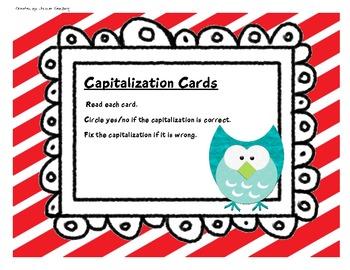 Capitalization Practice Cards