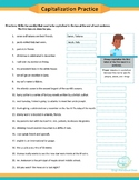 Capitalization Practice | Fillable PDF | Distance Learning